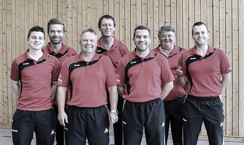 Herren I - v.l.n.r. Kevin Bruder (Ersatz), Marco Eckert, Johannes Danner, Bernd Eckert, Christian Gütle, Hermann Bruder, Matthias Huber