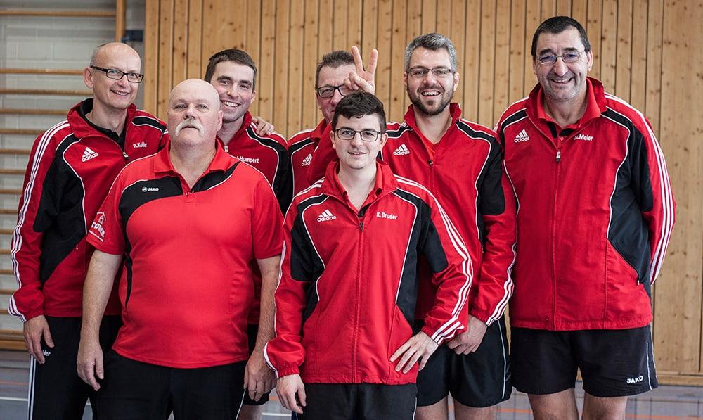 Herren II - v.l.n.r. Ralf Kohler, Manfred Limpert, Johannes Humpert (Ersatz), Uwe Schmitt, Kevin Bruder, Boris Hauser, Meinrad Meier