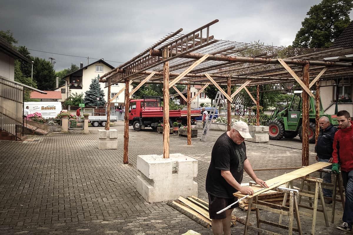 Aufbau Handwerkerhof 2015